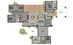 The Home Decor Guru – Interior Design For Bedrooms Dream House Plans, House Floor Plans, Building Plans, Building Design, House Plans Australia, Affordable House Plans, Home Design Floor Plans, Sims House, Large Homes