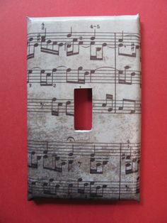 Sheet Music Light Switch Cover by LaurenRoos on Etsy, $6.00