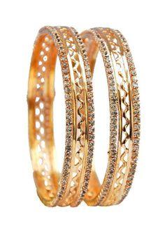 Maayra Stylish Golden Bangles #bangles