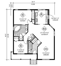 - 80552PM   1st Floor Master Suite, CAD Available, Canadian, Cottage, Country, Metric, Narrow Lot, PDF, Sloping Lot   Architectural Designs