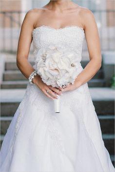 diy fabric wedding bouquet