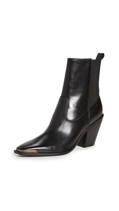 $450.0. SIGERSON MORRISON Boot Faith Double Gore Square Toe Booties #sigersonmorrison #boot #pointedtoe #shoes Leather Wedge Sandals, Leather Wedges, Black Leather Boots, Knee Boots, Combat Boots, Sigerson Morrison, Leather Harness, Western Boots, Ankle Strap