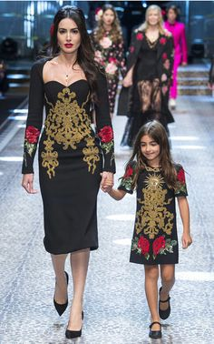 With a mix of generations walking the runway, Fall / Winter '17 was truly a family affair. Even the little ones (those too young to walk were carried) are invited to live 'La Dolce Vita,' with adorable mini versions of the label's floral dresses, bright puffers and rose-print pajamas.