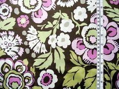 wunderschöner Baumwoll/Patchworkstoff von AMY BUTLER  in khaki/rosa/pink/weiss/lime  ca 1,10m Breite  USA;100% Baumwolle....  Ideal für Quilts,Kissen,