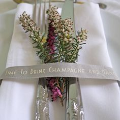'time to drink champagne' ribbon by le trousseau   notonthehighstreet.com