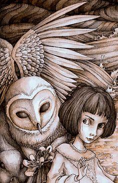 Adam Oehlers    ILLUSTRATION   Alice in Wonderland   A Caucas Race (detail)