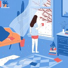 -springtime comes floating through the window- You need to see the work of the up-and-coming illustrator, Junghyeon Kwon…it's simply gorgeous. Shadow Illustration, Simple Illustration, Illustration Artists, Digital Illustration, Graphic Illustration, Art Bleu, Street Art, Isometric Design, Poster S