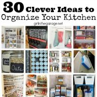 30 Clever Ideas To Organize Your Kitchen | Girl In The Garage