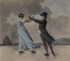Regency era painting of skating - Google Search