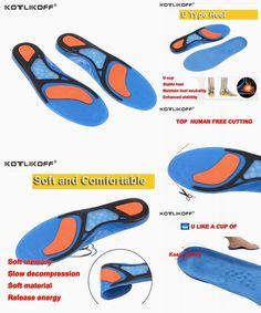 [Visit to Buy] KOTLIKOFF Sport Insoles Shock Absorption Pads Running Sport Shoes Inserts Breathable Insoles Foot Health Care For Men And Women #Advertisement