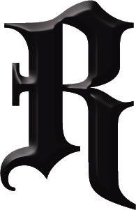 Gothic letter R | tattoo | Robin : identity : 35 | illustration | color | ram2013