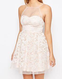 Image 3 ofLipsy Organza Layered Mini Prom Dress