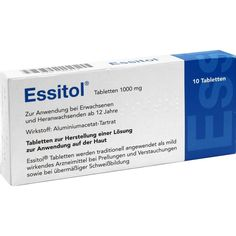 ESSITOL Tabletten:   Packungsinhalt: 10 St Tabletten PZN: 01385812 Hersteller: athenstaedt GmbH & Co KG Preis: 3,11 EUR inkl. 19 % MwSt.…