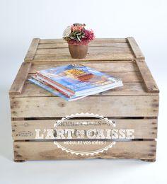 #diy #bricolage #table #mobilier #meuble #bois http://www.lartdelacaisse.fr/