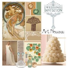 Love the idea of an art nouveau wedding but more peacock colors