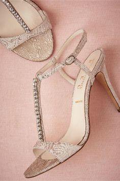 Pearl And Crystal T Strap Sandal Style LOREN