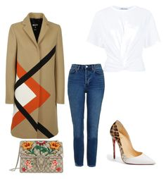 """""""Untitled #4"""" by zantay on Polyvore featuring MSGM, Christian Louboutin, Topshop, T By Alexander Wang and Gucci"""