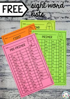 Awesome teaching hack! Sight Word lists! This ultimate list has both Dolch and Fry! A must have resource for teachers in kindergarten and first grade! A  great way to track your students progress and to ensure your sight word games are on point!