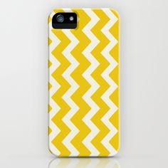 Crazy for Chevron - Mustard iPhone Case