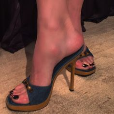 Spotted while shopping on Poshmark: HELLO BARBIE prissy shoe! #poshmark #fashion #shopping #style #Casadei #Shoes