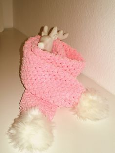 Superweicher rosa Schal mit Bommeln Merino Wool Blanket, Pink, Knitting And Crocheting, Homemade, Handarbeit, Kids