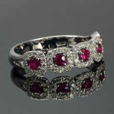 Ring in 18 kt gold with #ruby of 0,37 ct and natural brilliant-cut white #diamonds of 0,43 ct. The #ring is available in white gold, rose gold, yellow gold but you can also customize carats, quality, and color of #gemstones. All our #jewelry are made in italy. Contact us for any particular request.