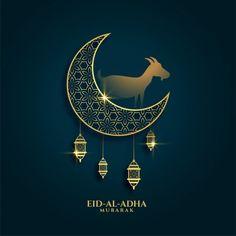 Lovely greeting of eid al adha festival ... | Free Vector #Freepik #freevector #background #card #islamic #animal Happy Eid Al Adha, Happy Eid Mubarak, Eid Al Adha Greetings, New Year Greetings, Ramadan Photos, Fest Des Fastenbrechens, Eid Card Designs, Happy Islamic New Year, Happy Muharram