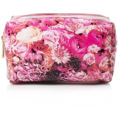 Forever 21 Floral Print Makeup Bag ($6.90) ❤ liked on Polyvore featuring beauty products, beauty accessories, bags & cases, bags, makeup, makeup bags, accessories, beauty, filler e polka dot cosmetic bag