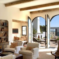 Get inspired - and ready for summer - with these these 5 beachy rooms! (Room by Chris Barrett Design)