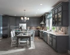 I think we might go with this kitchen! More KraftMade Cabinets!