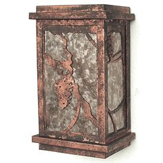 Copper Canyon L1 Lodge and Cabin Lantern #RusticLighting #RusticWallLighting