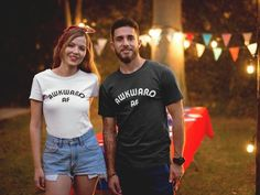 Funny T-Shirt - Awkward Af Shirt - Funny Womens TShirts - Womens Graphic Tees - Womens Clothing - Womens Shirts - AF T-Shirts T-shirt Couple, King Queen Shirts, S Shirt, Slogan Tshirt, Shirt Outfit, Shirt Men, Matching Shirts, Matching Couples, Matching Set