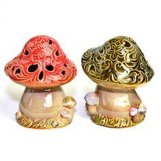 mushroom incense holders