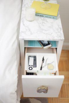 Ikea Nordli Nightstand Revamp | MADE BY MONIQUE