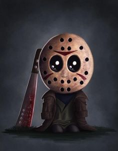 Adorable Jason Voorhees from Friday the . halloween crafts for kids Horror Cartoon, Horror Icons, Cartoon Art, Horror Movie Characters, Horror Movies, Chibi, Happy Friday The 13th, Horror Artwork, Jason Voorhees
