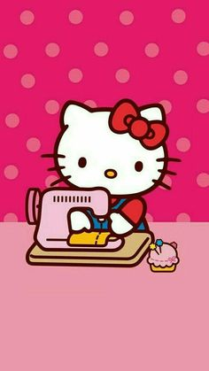 sewing with hello kitty