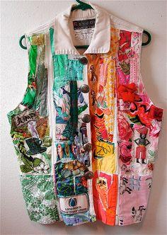 fun art to wear by Cannon Beach fabric artist Bonny Gorsuch
