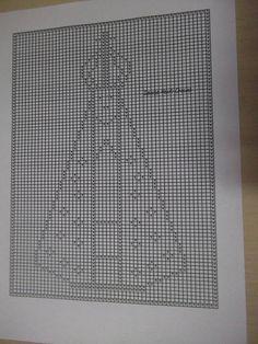 Gráfico Nossa Senhora Aparecida para crochê filé ou ponto cruz