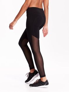 Mesh-Panel Compression Leggings Product Image