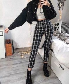Style Outfits, Mode Outfits, Retro Outfits, Grunge Outfits, Cute Casual Outfits, Vintage Outfits, Easy Outfits, Hipster Fashion Style, Egirl Fashion
