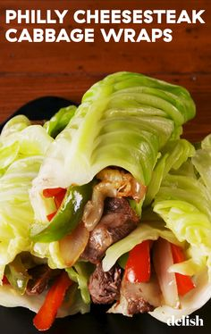Philly Cheesesteak Cabbage Wraps - Delish.com