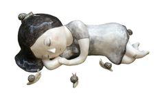 La dormeuse, ceramic sculpture by Nathalie Choux Cerámica Ideas, Ceramic Techniques, Art Corner, Ceramic Animals, Clay Figures, Contemporary Ceramics, Ceramic Clay, Ceramic Artists, Types Of Art
