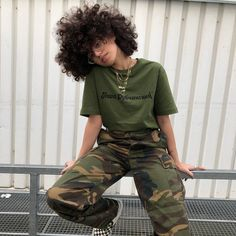 Image about girl in Fashion💙💙/Beauty🌸 by ☄black n' bold☄ Grunge Outfits, Tomboy Outfits, Tomboy Fashion, Fashion Killa, Streetwear Fashion, Casual Outfits, Fashion Outfits, Looks Hip Hop, Tomboy Stil