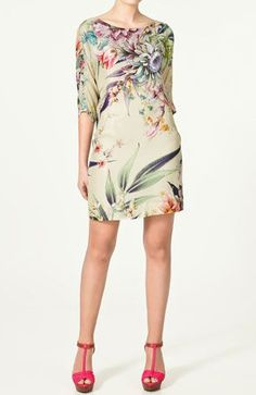 Zara floral printed tunic dress