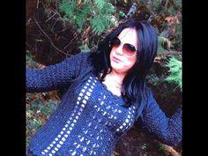 Crochet abrigo de adulto para principiantes - YouTube