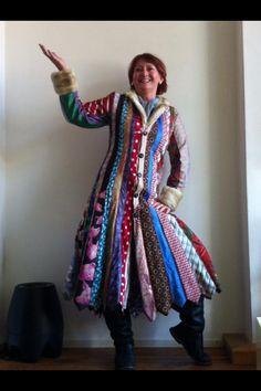 Jas gemaakt van stropdassen/ handmade coat from ties