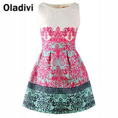 Find More   Information about New 2015 Spring Summer New Women Fashion Clothes Sleeveless Printing Sundress Elegant Vintage Dress Wholesale Retail Dropship XL,High Quality  ,China   Suppliers, Cheap   from Oladivi Group - Minabell Fashion Store on Aliexpress.com