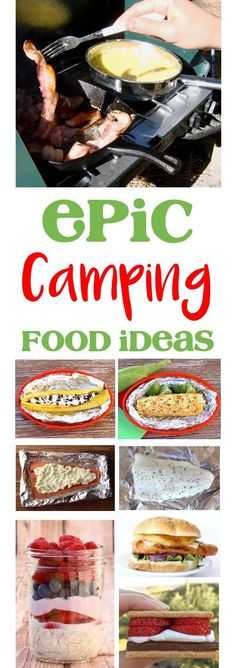 Camping Food Ideas and Easy Recipes! Make ahead meals, genius hacks, and epic desserts to make your next campout the best ever! | TheFrugalGirls.com