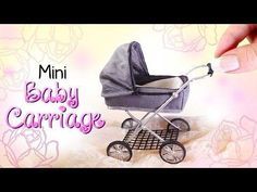 Baby Accessories Miniature Baby Carriage Tutorial // DIY Dolls/Dollhouse | Su...
