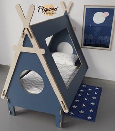 29 Ideas For Bedroom Ikea Bed Furniture Kids Bedroom Furniture, Pet Furniture, Plywood Furniture, Teepee Kids, Childrens Beds, Trendy Bedroom, Diy Bedroom, Wood Toys, Kid Beds